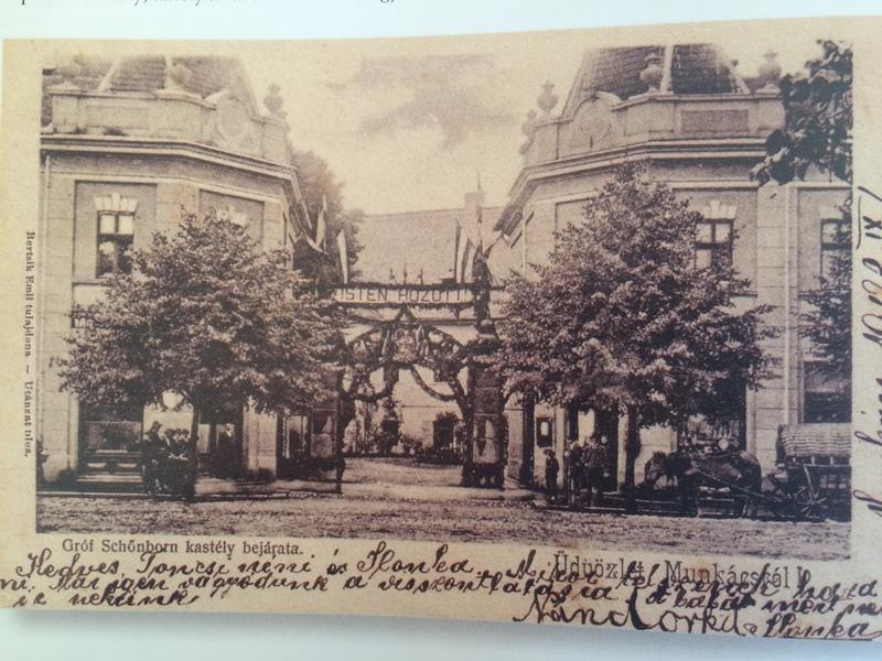 прикрашені ворота палацу Шенборну