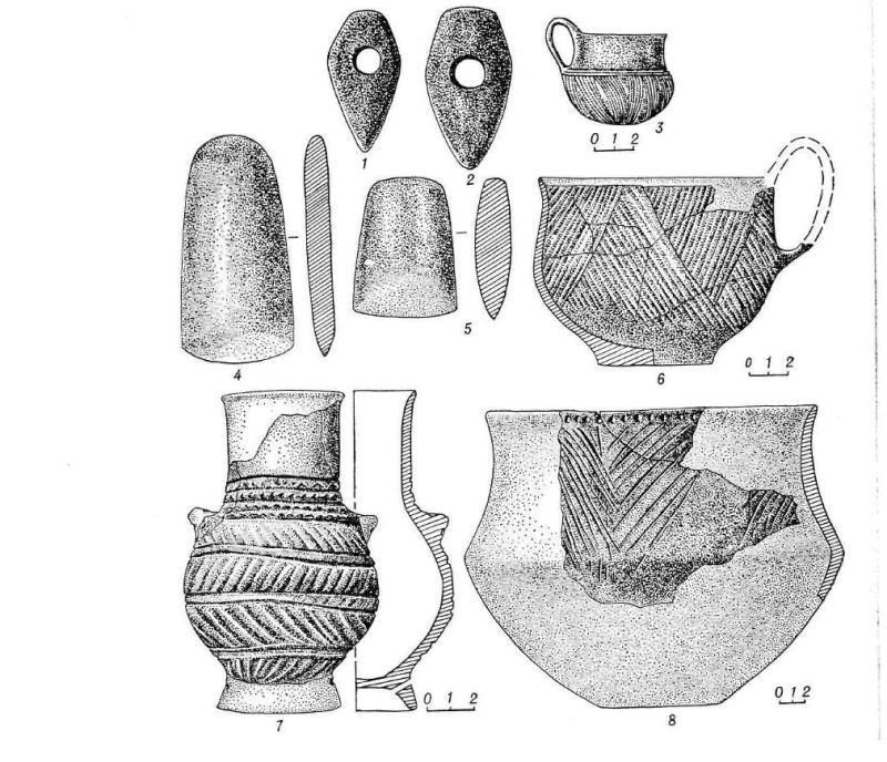 Енеоліт - камяні топори і кераміка